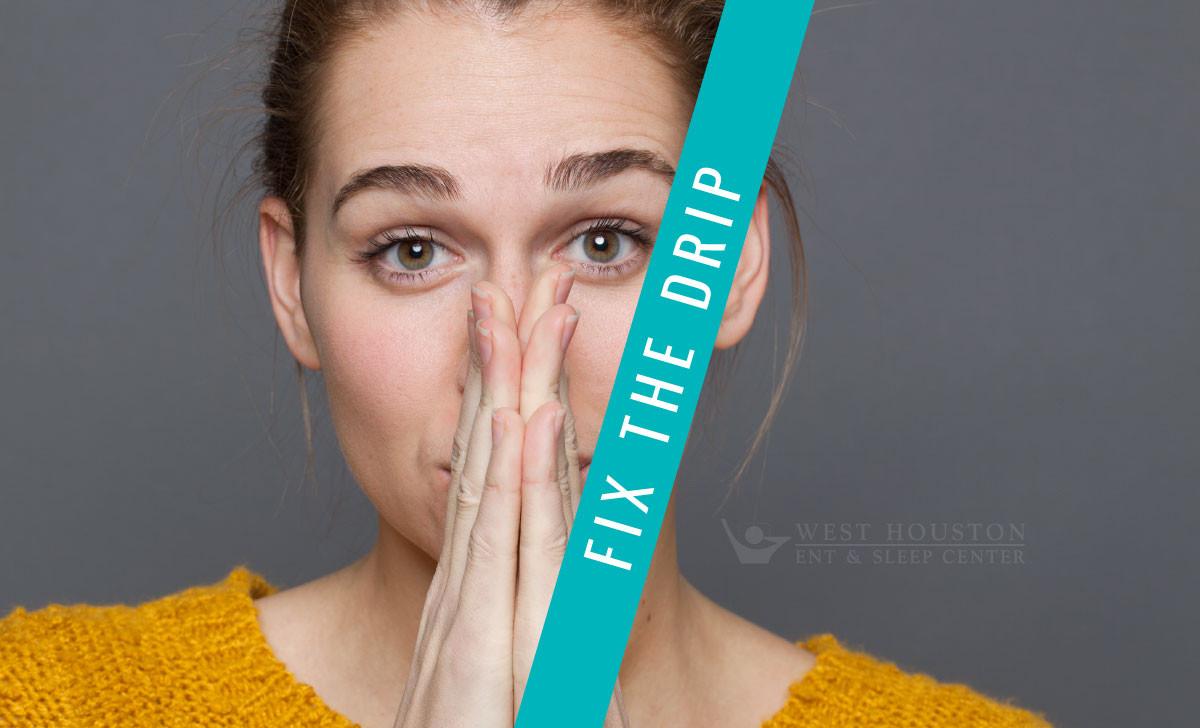 stop nasal drainage